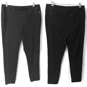 Style & Co Black Jegging Pajama Jean Stretch Pant